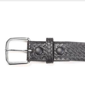 "Boston Leather 1 1/2"" leather garrison belt"